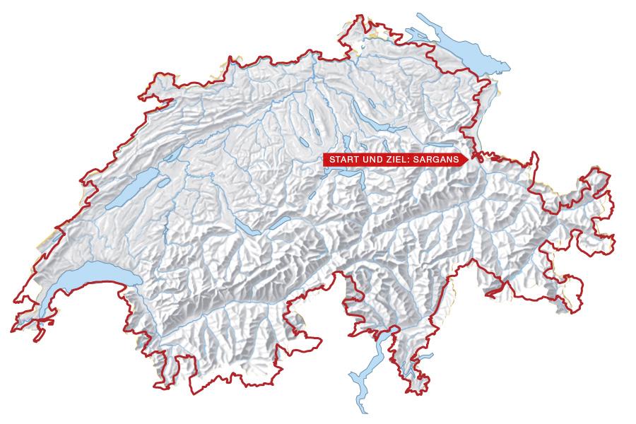MTB SuisseTrail Karte